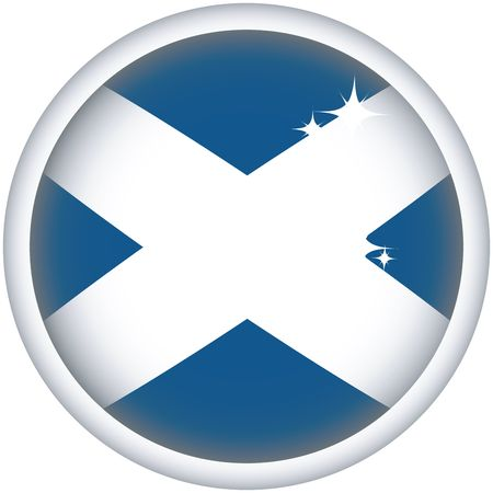 scotish: Scottish sphere flag button, isolated on white