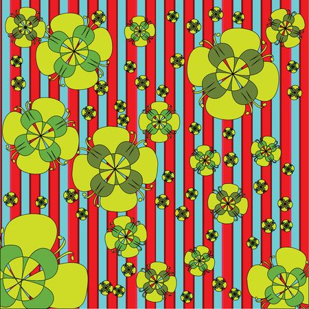 Seamless retro floral background Stock Photo - 6187121
