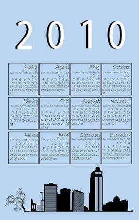 2010 urban calendar, art Stock Photo - 6196837