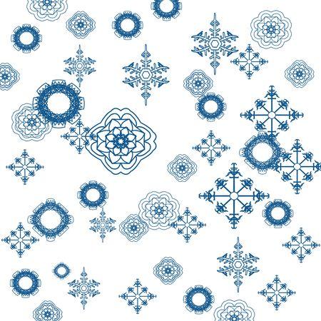 Snowflake background illustration Stock Illustration - 6196345