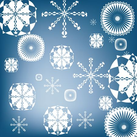 Snow flakes background, art photo