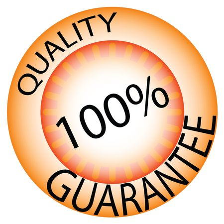Quality guarantee-sticker illustration Stock Illustration - 6196305
