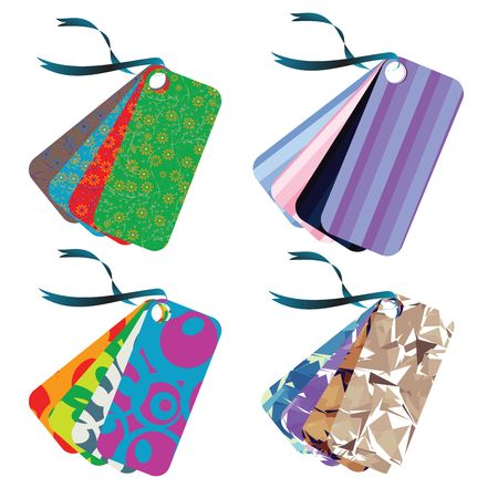 Tag set, collection of  four tags in different colors ready for your design Stock Photo - 6195848