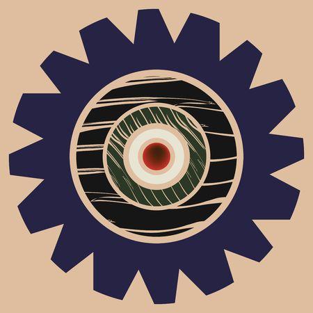 illustration of an abstract eye icon Stock Illustration - 6187317