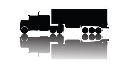 truck silhouette photo