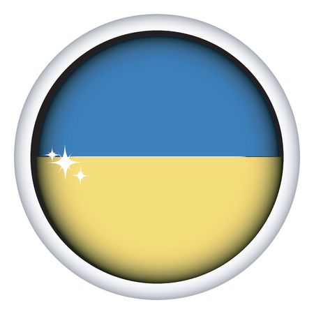 ukranian: Ukranian sphere flag button, isolated on white
