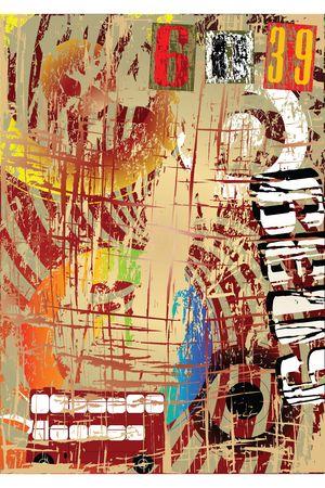 Grunge background illustration Stock Illustration - 6203789