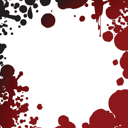 Grunge blood splash frame for photography or text Vector
