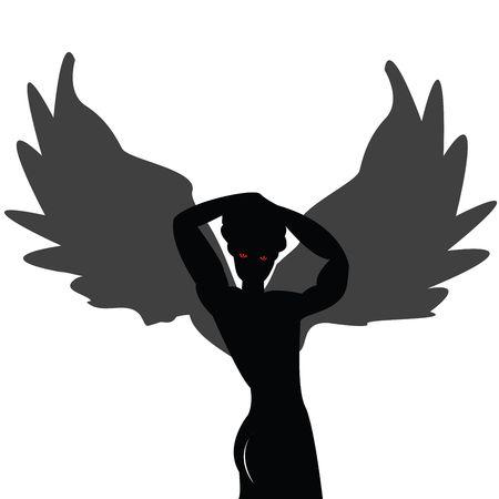 Posing angel isolated on white background Stock Photo - 6247862