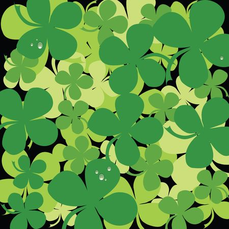 Seamless clover background with water drops Stock Photo - 6247867