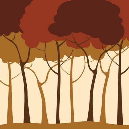 Forest background in sepias Stock Vector - 6247898