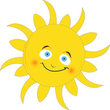 soleil souriant: Convivial Sun souriant  Illustration