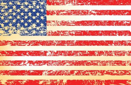 estados unidos bandera: Bandera de grunge U.S.  Vectores
