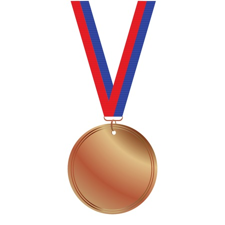 blanc: Medalla de bronce de Blanc sobre fondo blanco