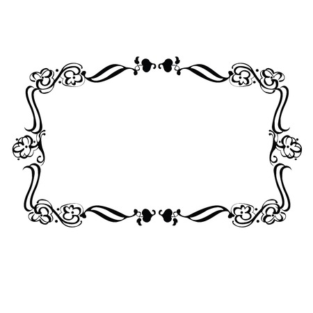 Decorative frame over white background Stock Vector - 6308617