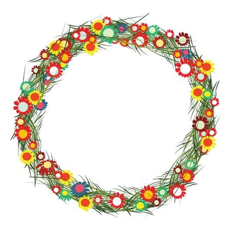 Floral frame on white background Stock Vector - 6308768