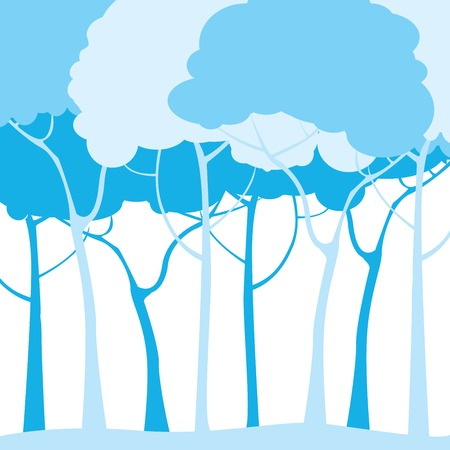 dreary: Blue forest illustration