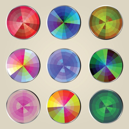 Color wheels illustration Stock Vector - 6356840