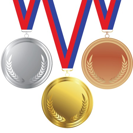 Vector medals set isolated over white background Vector