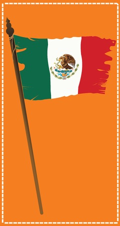 Grunge flag of Mexico Vector