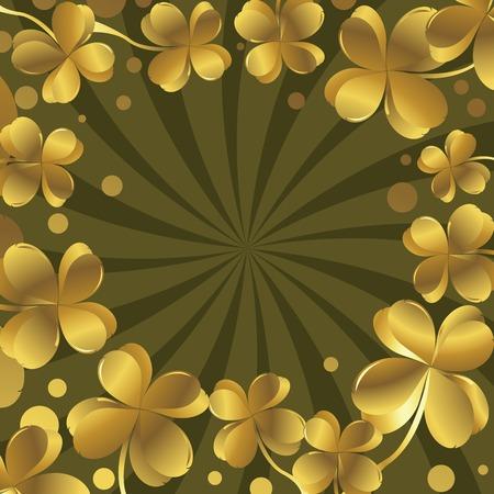 three leafed clover: Shamrock Illustration