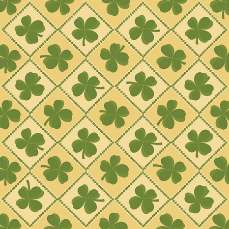 St Pattys Day seamless background Vector