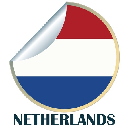 Sticker with flag of Netherlands Stock Vector - 6441975