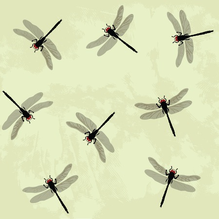 posterity: Seamless background with dragonfly Illustration