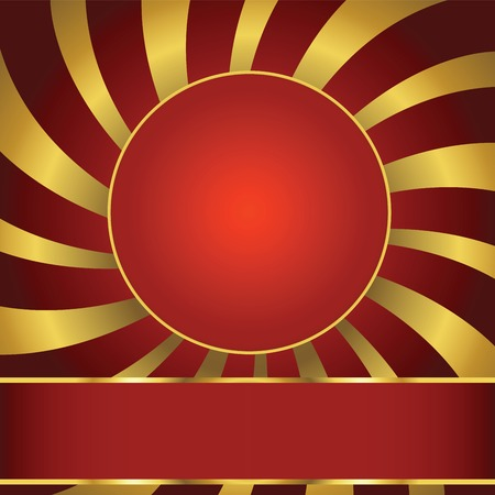 Abstract background with label Vector