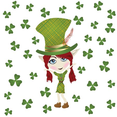 Pointed ear leperchaun celebrating St Patrick' Day Stock Photo - 6528255