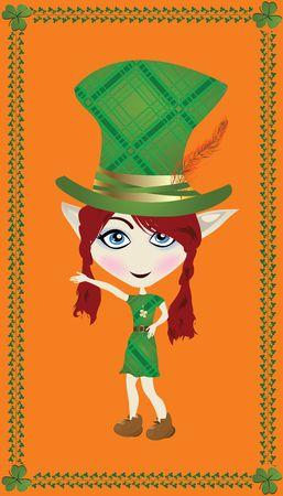 Celebration card for Saint Patricks Day with leprechaun photo