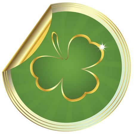 Shamrock design, clover sticker