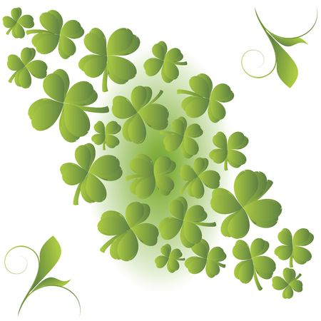 Clover background for St. Patrick's Day Stock Photo - 6528295