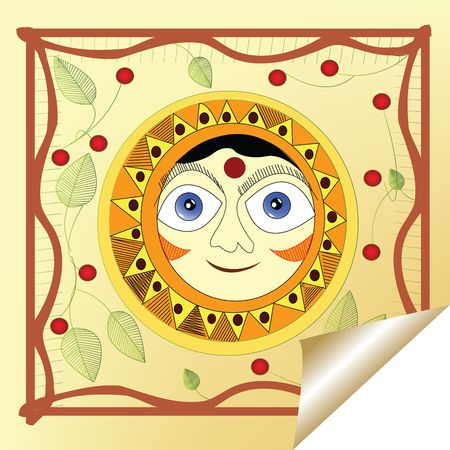 Sticker with smiling sun photo