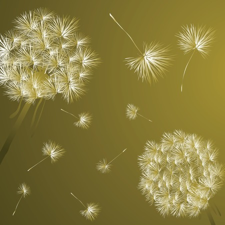 Background illustration with dandelions Stock Vector - 6564155