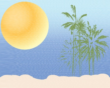 Tropical landscape Stock Vector - 6564158