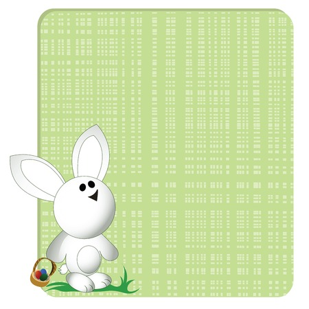 Easter bunny card, greeting Vector