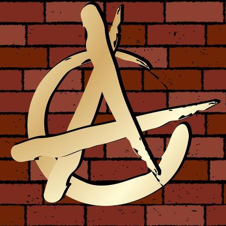anarchy: Anarchy sign on a brick wall
