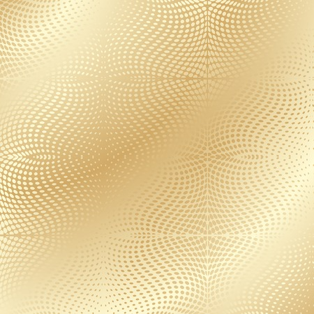 Gold texture, warped dots pattern Stock Vector - 6637125