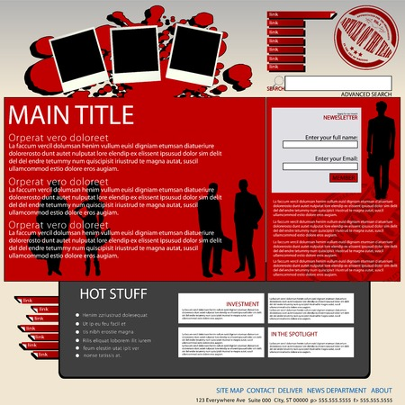 Digital magazine, website layout Stock Vector - 6701398