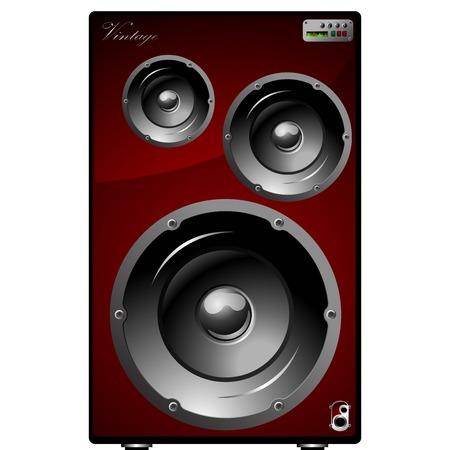 audio equipment:  Speakers over white background