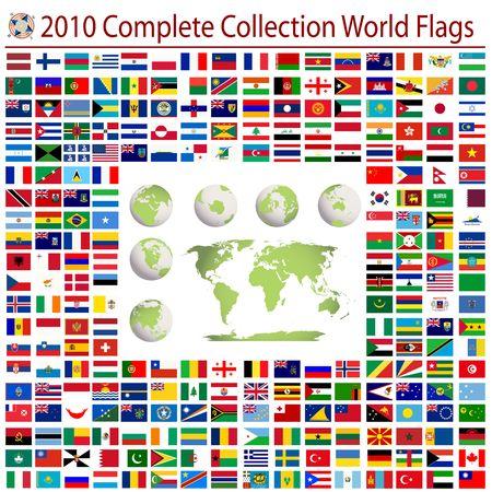 bandera de rusia: Banderas del mundo y el mapa del mundo editable, colecci�n completa