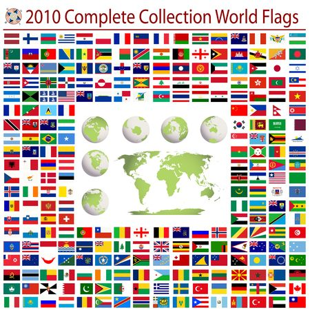 russia map: World flags and editable world map, complete collection