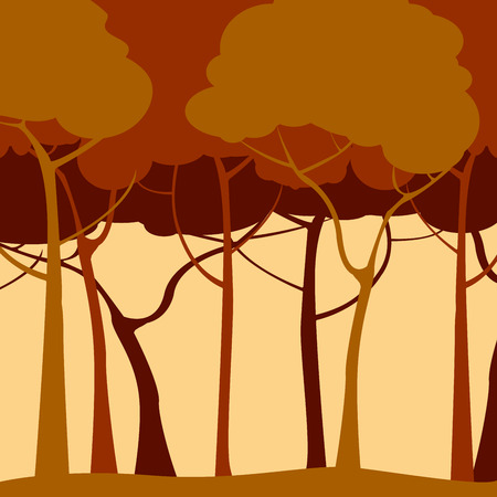 Creative backround with trees in sepia Stock Vector - 6855149