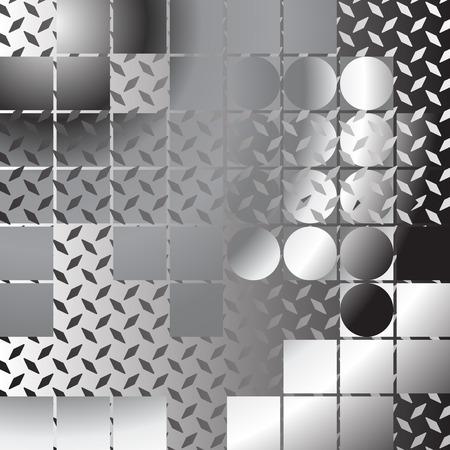 brushed aluminum: Fondo met�lico abstracta, composici�n con l�minas de metal