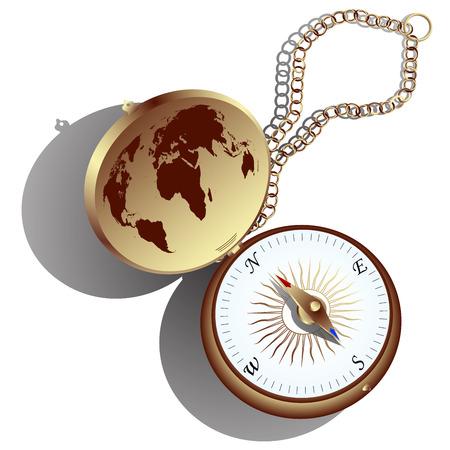 Golden compass Vector