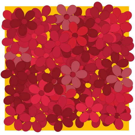 rt: Red flowers background illustration, clipa rt