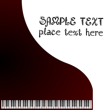 klavier: Musik, Gru�karte mit Fl�gel Illustration