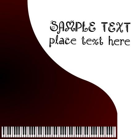Musique, carte de v?ux avec piano à queue