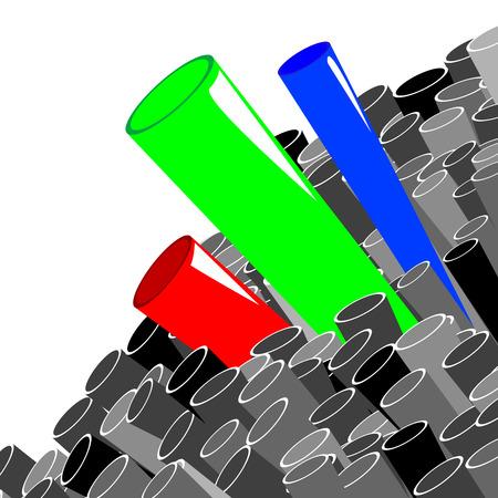 Stack of tubes, art illustration Stock Vector - 6914919
